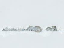Long crack with blur focus. Stock Photos