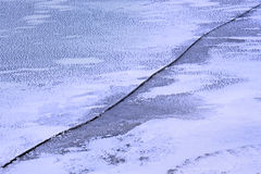 Long crack on the ice Stock Photography