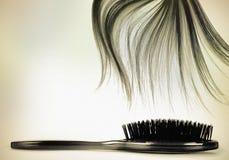 Long cru de balai de cheveu Photos stock