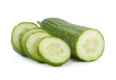 Long cucumber on white Royalty Free Stock Image
