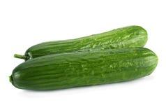 Long cucumber on white Royalty Free Stock Photo