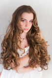 Long curls Royalty Free Stock Photography