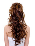 Long curly wedding hairstyle royalty free stock photo