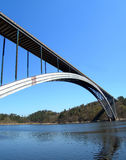 Long czech bridge royalty free stock photography