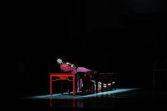 Long d'amour de Respectively-The de route-Le acte d'abord des événements de drame-Shawan de danse du passé Photographie stock libre de droits