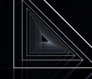 Long dark corridor interior. 3D. Illustration Stock Images