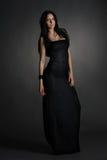 Long dark dress Stock Images
