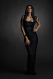 Long dark dress Royalty Free Stock Photo