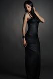 Long dark dress Stock Photo