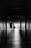 Long dark empty hallway Royalty Free Stock Images