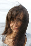 Long dark hair Royalty Free Stock Photos