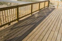Long Deck. Long / wide newly built deck Stock Photography