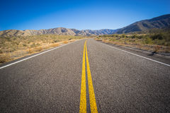 Long Desert Highway California Stock Image