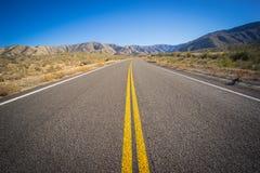 Long Desert Highway California Stock Image