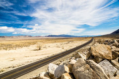 On a Long Desert Highway Royalty Free Stock Photos