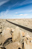 On a Long Desert Highway Royalty Free Stock Image