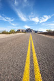 Long Desert Road Royalty Free Stock Images