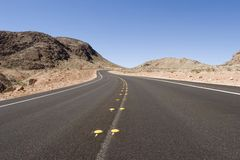 Long desert road Royalty Free Stock Photography