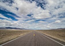 Free Long Desolate Road In The Desert Stock Image - 204614481