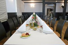 Long Dining Table Stock Photos