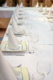 Long dining table Royalty Free Stock Photography