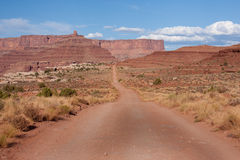 Long Dirt Road Royalty Free Stock Photography