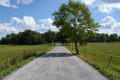 Long dirt road leading into countryside Royalty Free Stock Photo