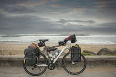 Long Distance Bicycle by Ocean Royalty Free Stock Image