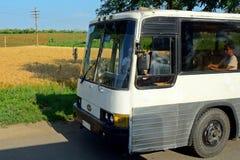 Long-distance bus, North-Korea Stock Photo