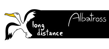 Long distance message. Creative design of long distance message Stock Photos