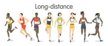 Long distance runners. Stock Images
