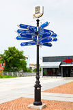 Long Distance Signpost in Plovdiv, Bulgaria Stock Photography