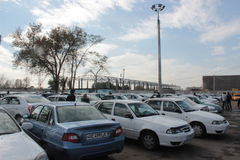 Long distance taxi station in Tashkent Royalty Free Stock Photography