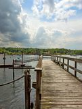 The Long Dock. A private dock on Long Island stock photography