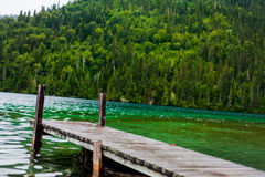 Long Dock and Amazing View of a Lake Stock Photography