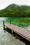 Long Dock and Amazing View of a Lake Royalty Free Stock Photo