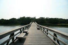 Long dock de pêche images stock