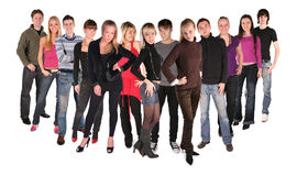 Long dozen of young people group 2 royalty free stock images