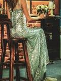 Long dress girl Stock Images