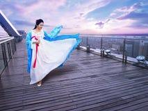 Long dress girl Stock Image