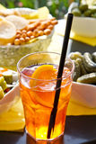 Long-drink. With orange slices royalty free stock image
