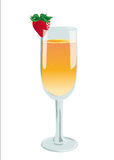 Long drink  bellini Stock Photo