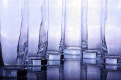 Long drinking glasses Royalty Free Stock Image