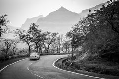 Long drive in Mountains... It& x27;s a pleasure to have Long Drive in Hilly areas of Sahyadri Mountain Range, a part of Western Ghats in India Royalty Free Stock Photo