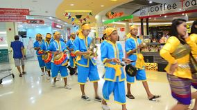 Long Drum Parade Thailand culture stock video