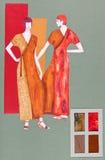 Long, elegant dresses Royalty Free Stock Photo