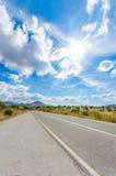 Long empty asphalt road Stock Photography