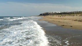 A Long Empty Beach stock video footage