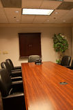 A long empty conference room table Royalty Free Stock Images