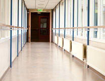 Long empty corridor Stock Photography